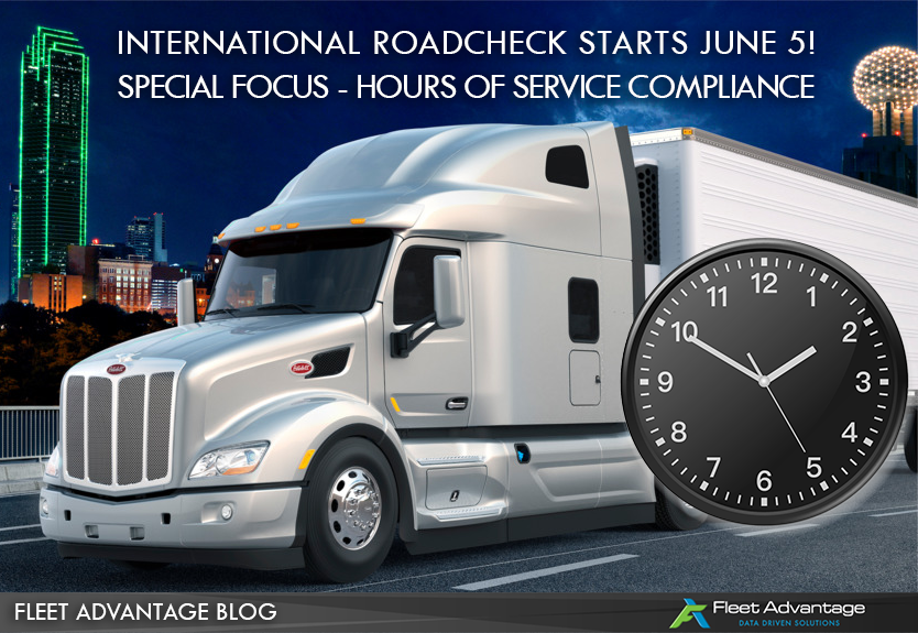 Fleet Advantage Safety Tips - 2018 International Roadcheck HOS